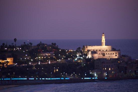 Dan Panorama Tel Aviv: Jaffa at night from the 18th floor of the Dan Panorama