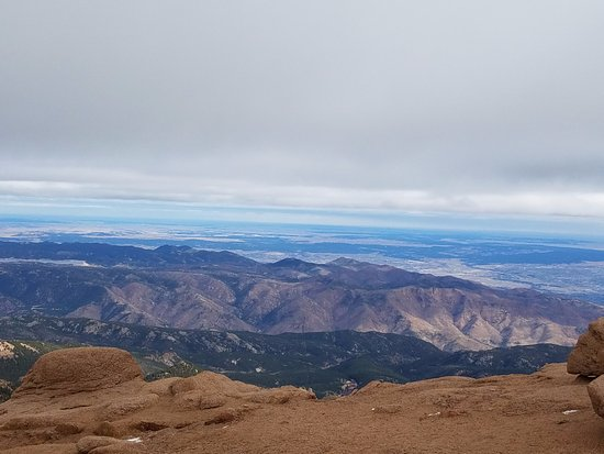 Pikes Peak - America's Mountain: A view from near the top of Pikes Peak.