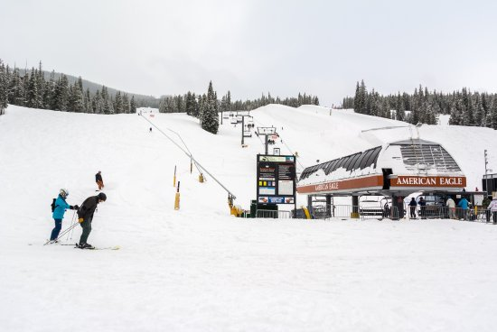 Copper Mountain, CO: American Eagle Lift in the Center
