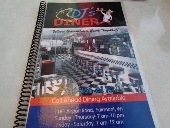 Fairmont, Wirginia Zachodnia: menu cover