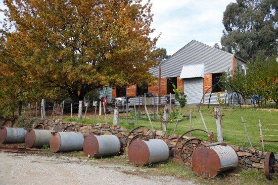 Yea, Australia: Furphy Tanks at Car park