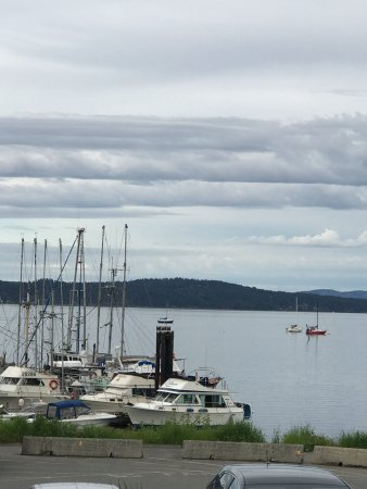 View of the harbour, Osborne Bay Pub 1534 Joan Avenue, Crofton, British Columbia