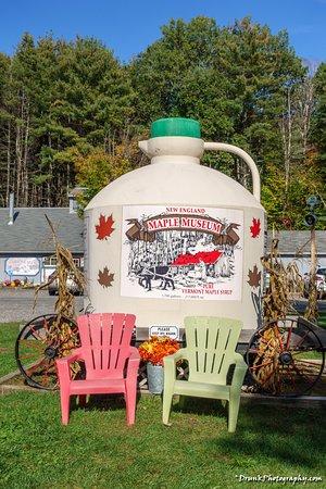 Pittsford, VT: signature jug on display