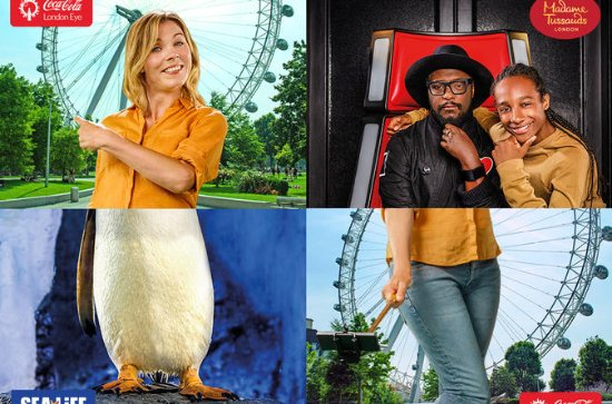Combo Ticket: London Eye- SEA LIFE London -Madame Tussauds London