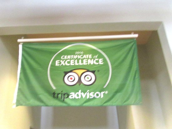 Trip Advisor Certificate of Excellence, Panhandle-Plains Historical Museum, Canyon, Texas