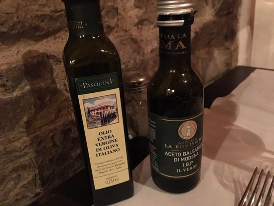 Ristorante Trattoria Angiolino – Ai 13 Arrosti : olive oil and balsamic vinegar