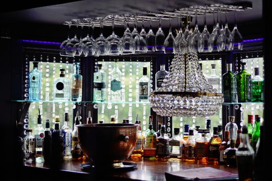 Chandelier Bar - Picture of Boathouse Restaurant, Christchurch ...