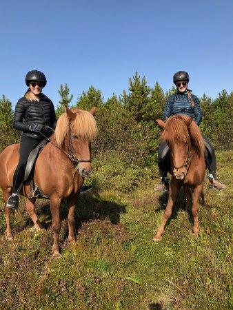 Viking Horses: My friend and I during our ride
