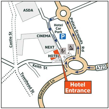 Holiday Inn Express Hamilton: Map of how to access our Hamilton hotel