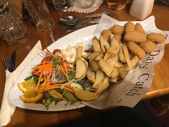 Lastingham, UK: Scampi and Chips