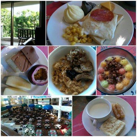Howard Beach Resort Kenting : 房間陽台,還有早餐