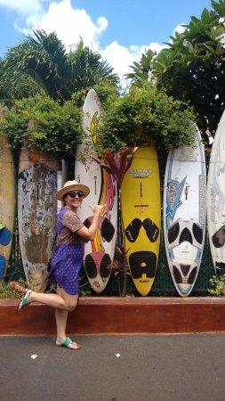 Paia, Hawái: Estacionamento de pranchas