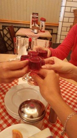 Bazyliszek Restauracja : A bit of some sweet cherry alcoholic drink - on the house!