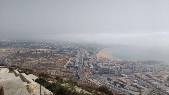 Agadir Oufella Ruins : vista da cidade