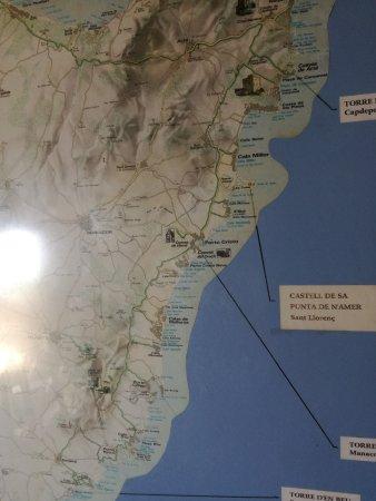 Mallorca Karte Sa Coma.Mallorcakarte Picture Of Punta De N Amer Sa Coma Tripadvisor