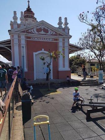 Trem da Vale – Ouro Preto e Mariana: Chegada a estação ferroviária de Mariana-MG