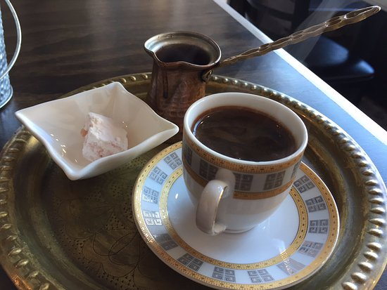 Royal Crepes: Superb Turkish coffee