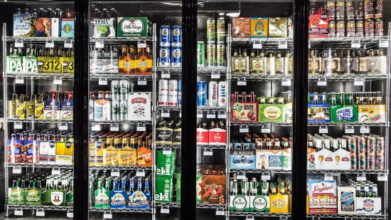 Grayling, MI: Our Market offers a selection of over 50 craft beers.