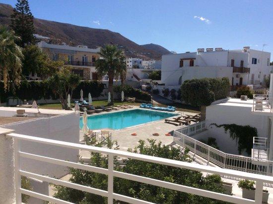 Polos Hotel: Très belle vue de notre chambre