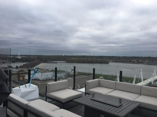 View Of The Mississippi River From The Roof Top Bar