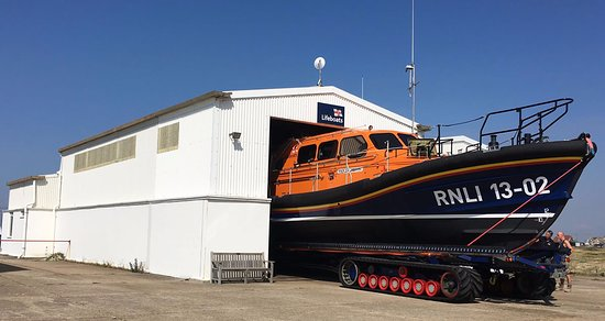 Dungeness, UK: Shannon - The first modern all-weather Lifeboat to use Waterjets for propulsion