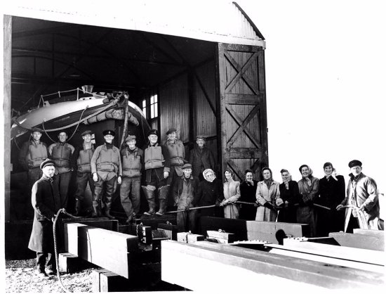 Dungeness, UK: Crew and The Lady Launchers