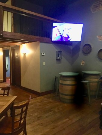 Winnsboro, TX: Barrel pub tables.