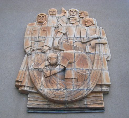 The Catch of St. Peter Sculpture