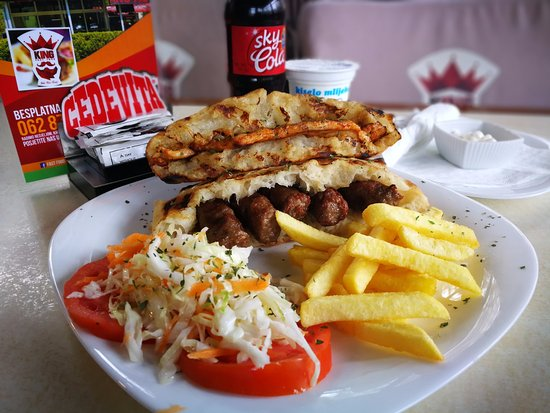 Delicious bbq, cevapi and chicken dishes, for the really