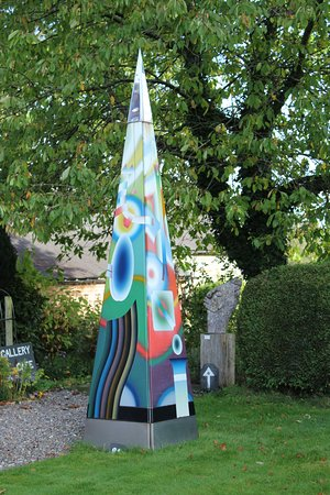 Mid Wales Art Gallery and Sculpture Park: Enameled steel sculpture
