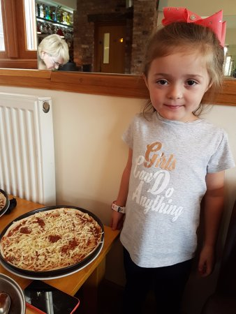 Denbigh, UK: Very proud of her Pizza
