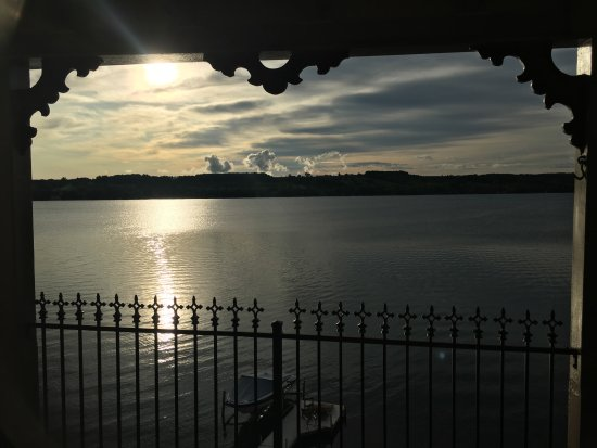 Penn Yan, NY: View from the Holmes balcony in the morning.