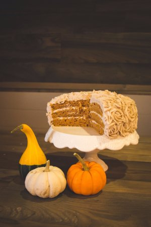 Winkler, Canada: Pumpkin Spice Cake is a hit in the fall season.