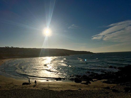 Porthmeor Beach: sunny day