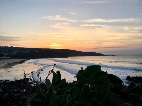 Porthmeor Beach: sunset