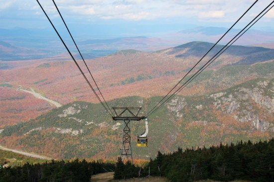 Cannon Mountain Aerial Tramway: view from the top