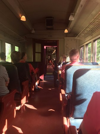 Jim Thorpe, PA: Interior of Bike Train