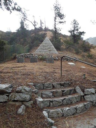 Brand Park: The gloomy Brand family cemetery with its distinctive pyramid.
