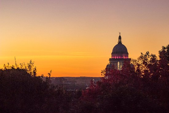 Rhode Island State House from Prospect Terrace