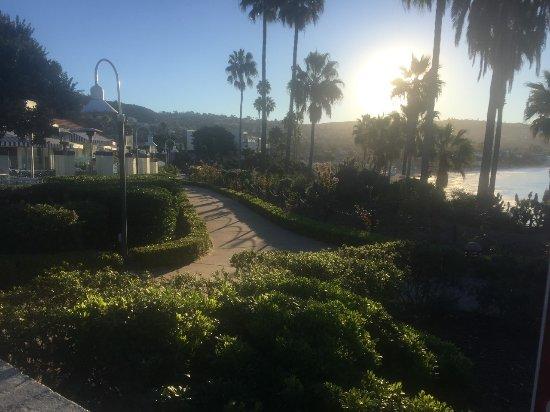 Santa Ana, كاليفورنيا: Beautiful early morning Beach sunrise with breakfast and seagulls in flight. 