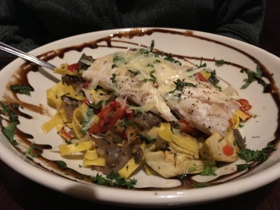 Belfast, ME: Pasta with Halibut Added