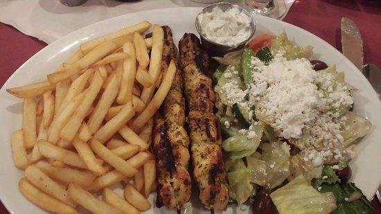 Romero's Restaurant: Chicken Souvlaki Dinner