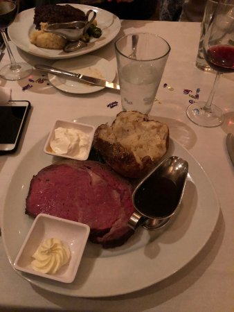 Leawood, KS: Prime Rib Dinner with Potato