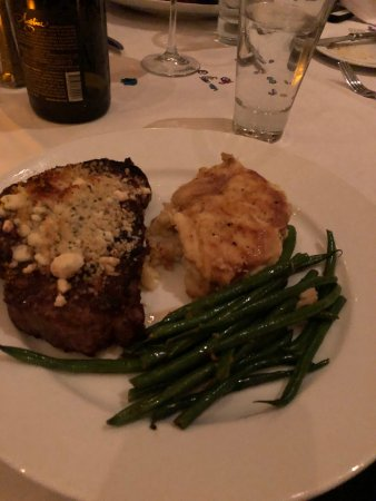 Leawood, KS: Maytag Blue Cheese Crusted Ribeye