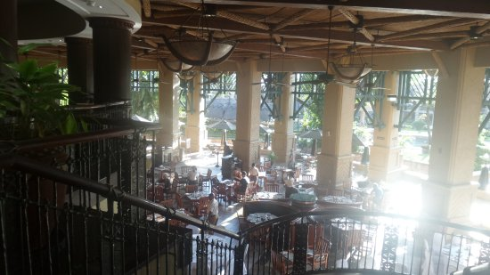 The Kingdom at Victoria Falls: Open air dining breakfast and dinner buffet