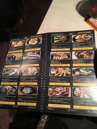 Viganj, Kroatia: menu