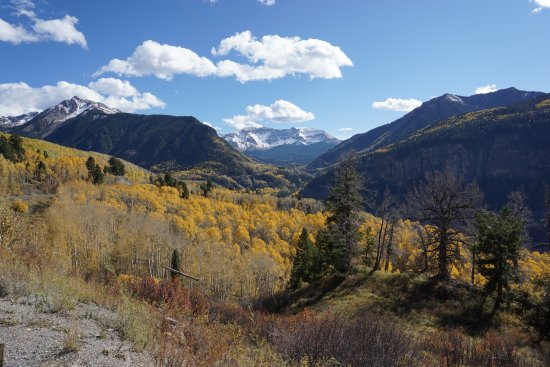 Mountain Village, Colorado: scenic overlook rt. 145 S of Mountain Village
