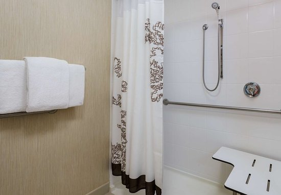 Residence Inn Houston Downtown/Convention Center: Accessible Bathroom - Roll-in Shower