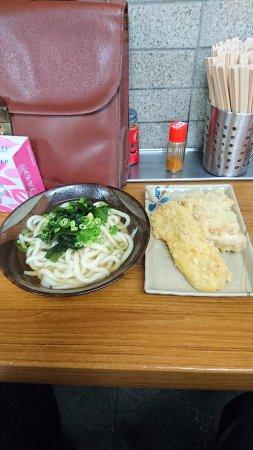Chikusei : かけうどん(2玉)と天ぷら