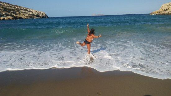 Matala beach: beach - 1
